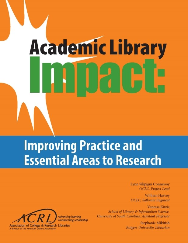 Cover of ACRL's new report, Academic Library Impact
