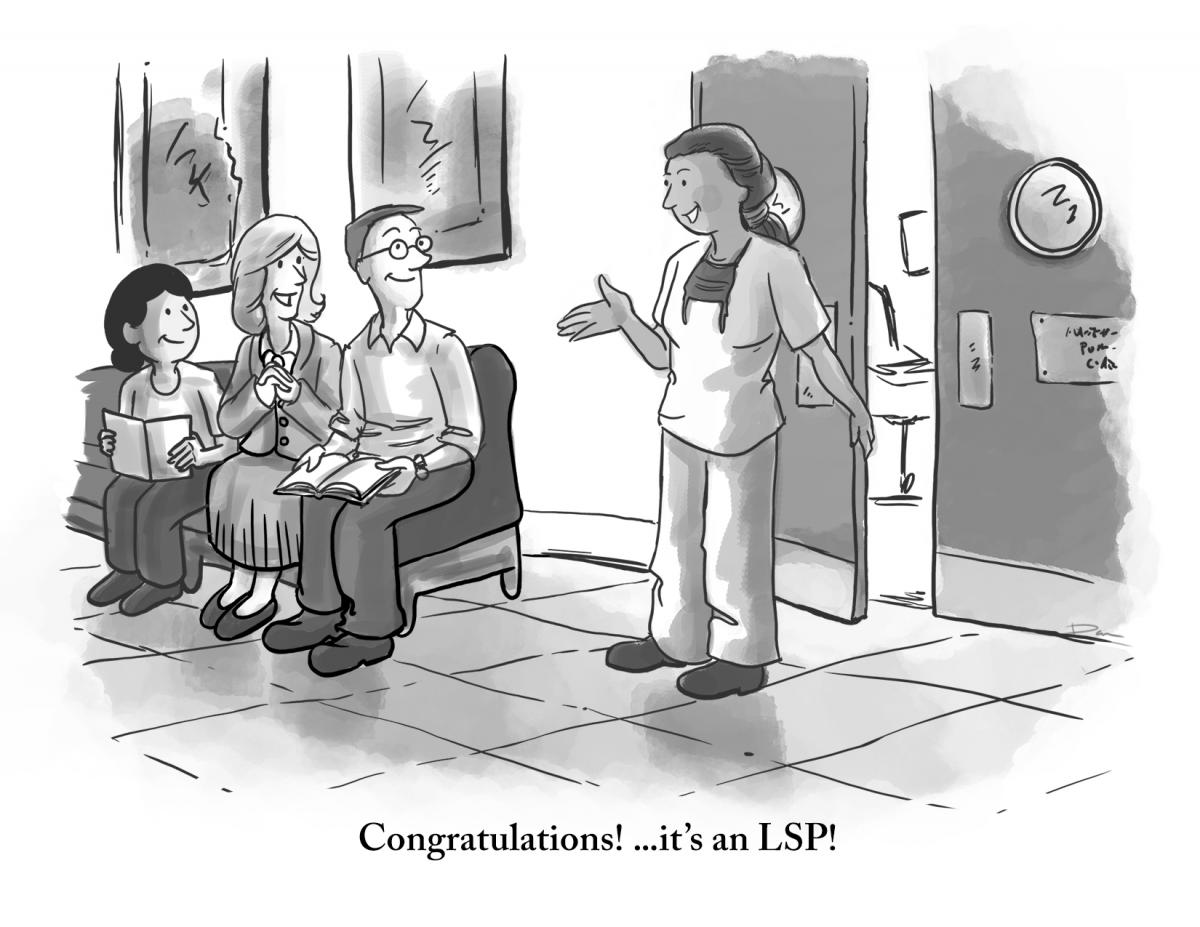 cartoon of nurse announcing it's an lsp!